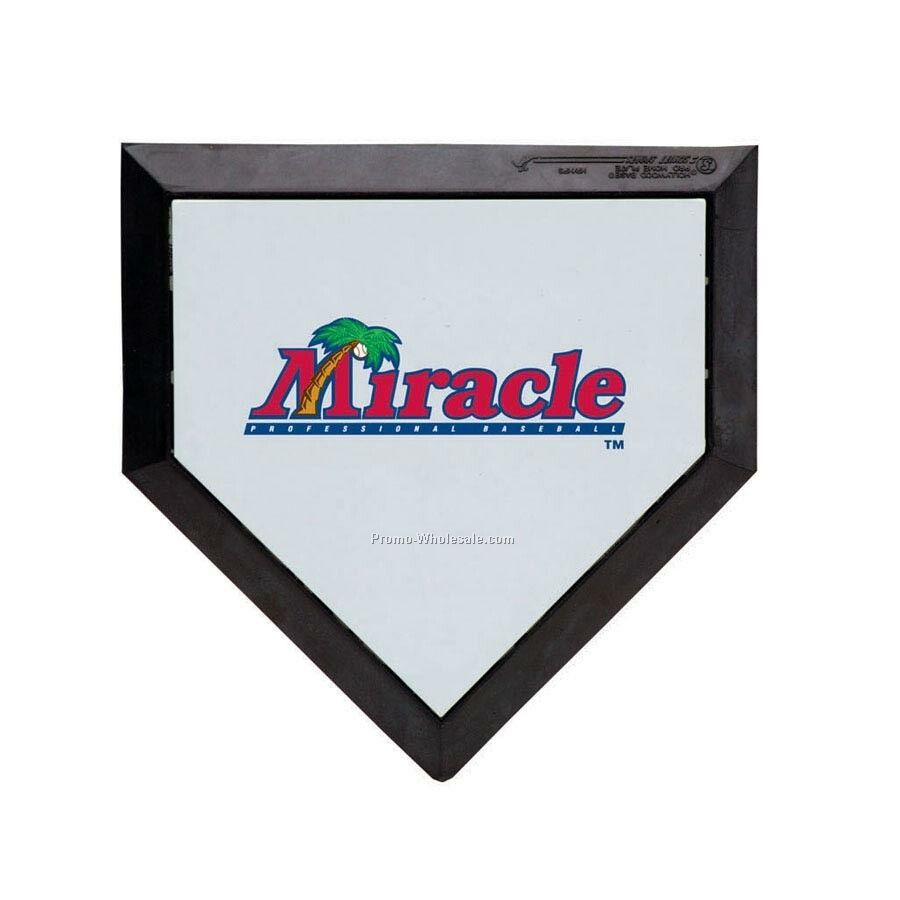 Custom Logo Pocket Sized Baseball Homeplate 1/4 Scale