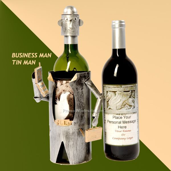 Custom Wine With Personalized Stock Label - Unicorn / Business Man Caddy