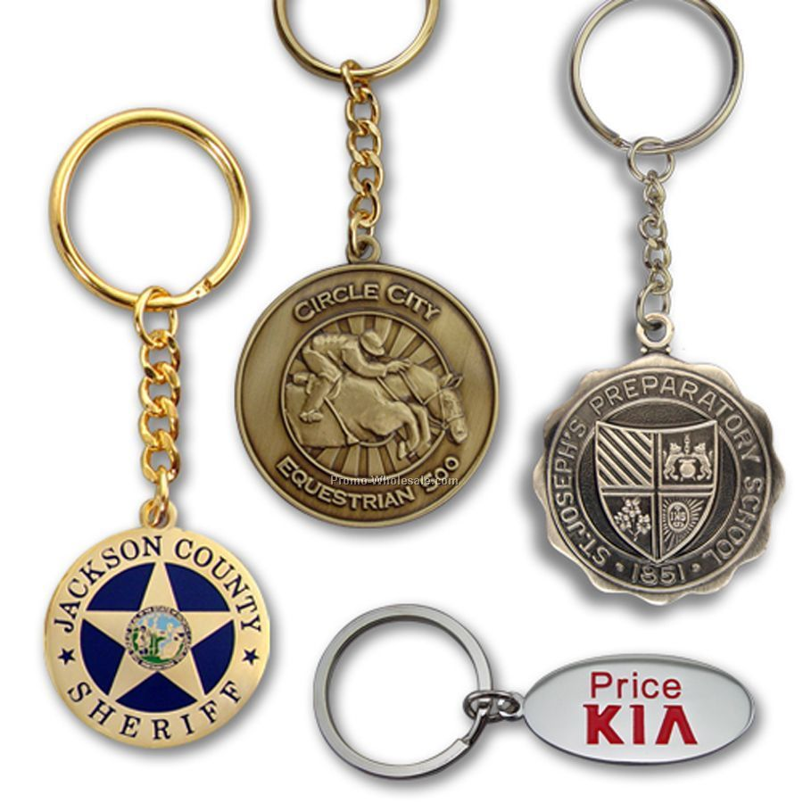 "Die Struck Brass Key Tag (1"")"