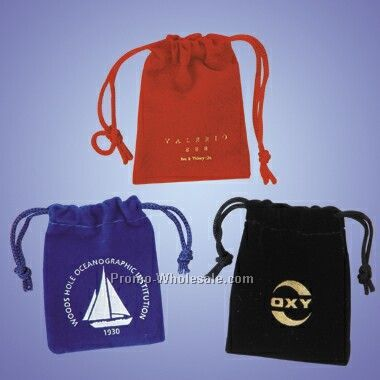 Drawstring Velveteen Pouch For Jewelry