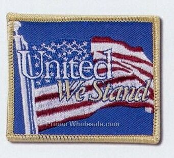 "Embroidered Patches With 75% Coverage (3-1/2"")"