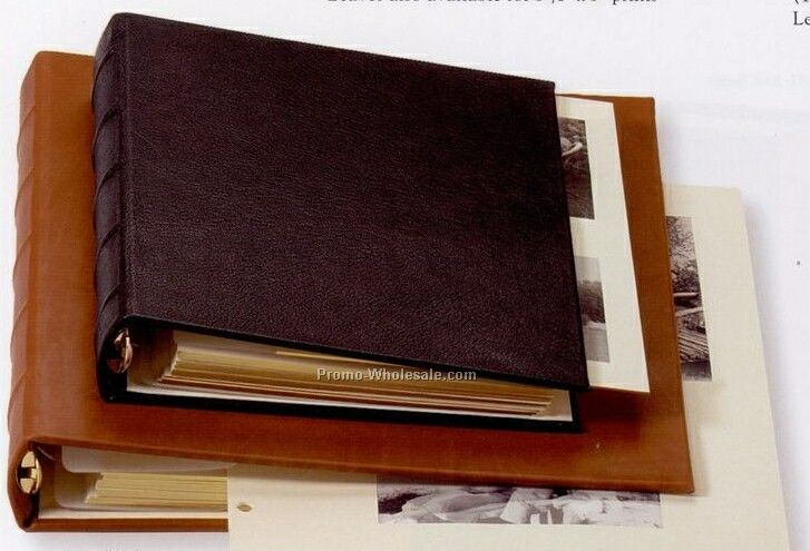 Extra Large Window Frames Album W/ Traditional Genuine Leather Cover