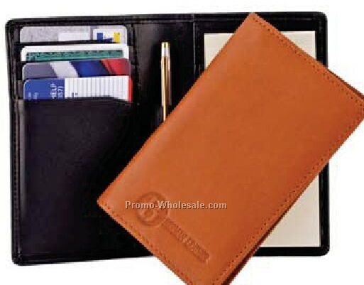 Full Grain Aniline Leather Credit Card Jotter