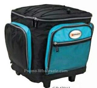 "Giftcor Light Blue Rolling Cooler Bag 15""x16-1/2""x13"""