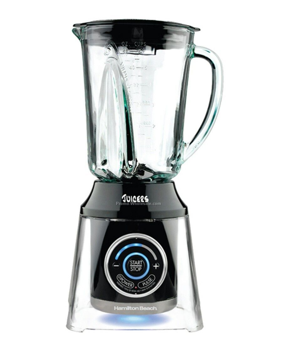 Hamilton Beach Liquid Blu, Black, 5 Speed Touchpad, 800 Wpp, 48 Oz Glass