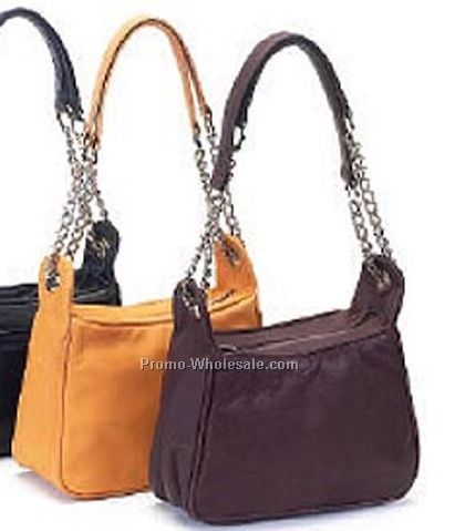 Handbag In Cow Leather With Metal Chain