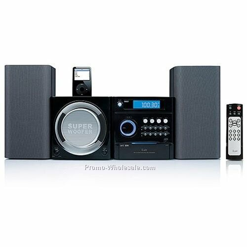 Iluv 2.1ch Mini System With Mp3 CD Playback & USB Port - Blk