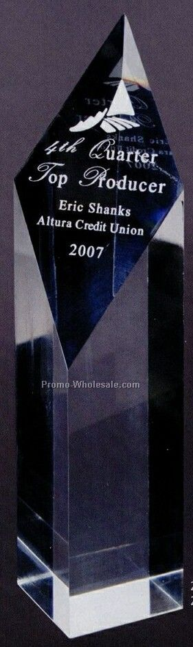 "Largediamond Acrylic Obelisk Awards - 2 3/4""x9""x2"""
