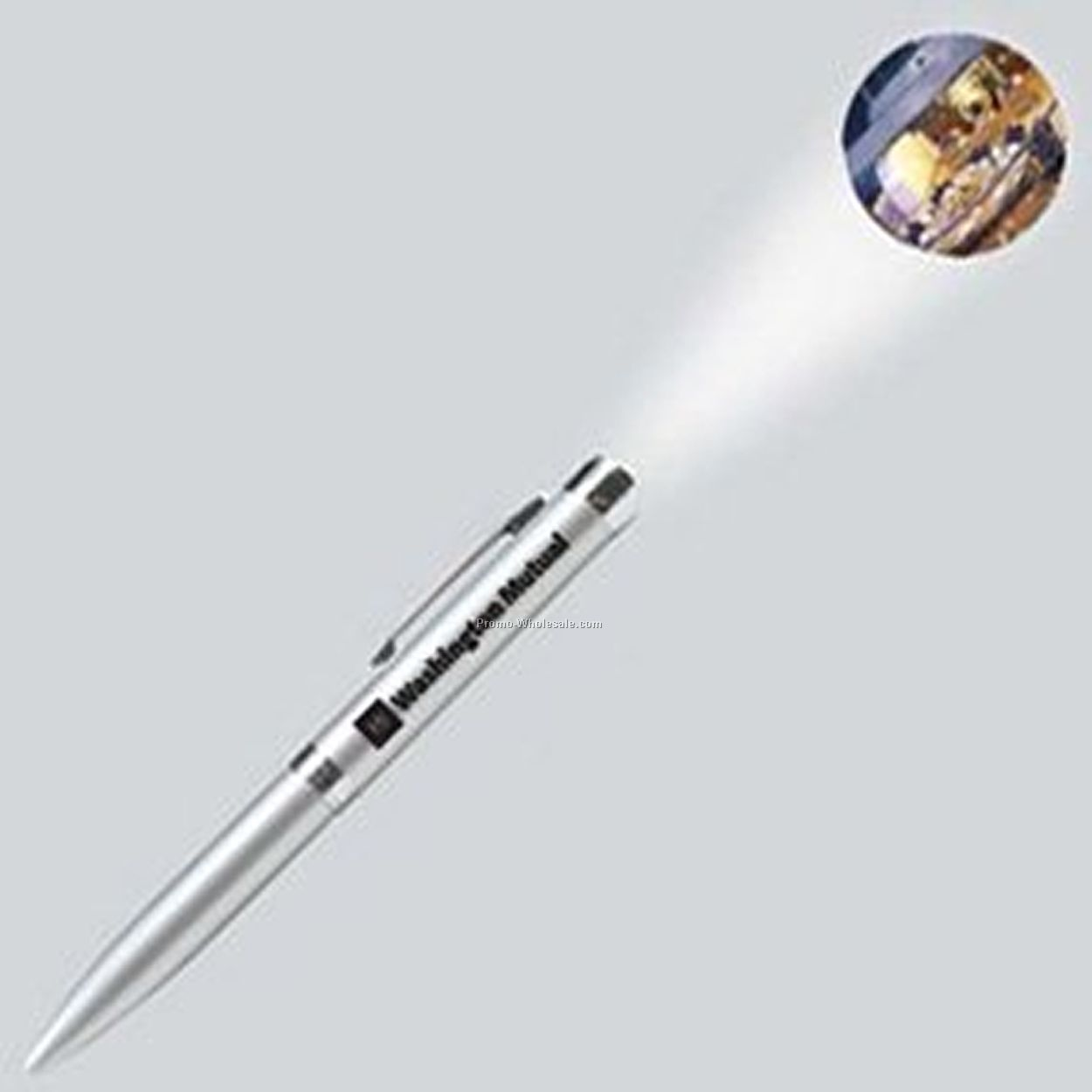 Light Up Projector Pen - Silver