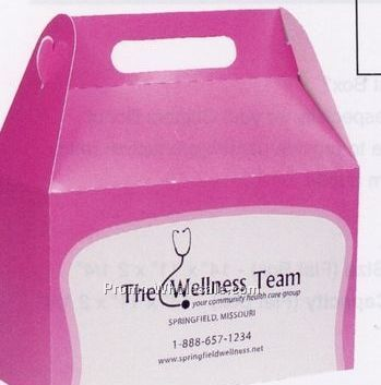Pink Advertising Donut Box