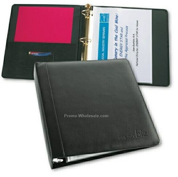 Pinnacle Leather 3 Ring Binder