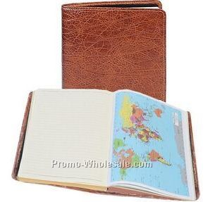 Red Italian Leather Ruled Journal