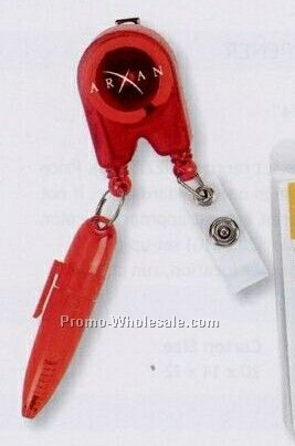 Retractable Pen Badge Holder (Standard Shipping)