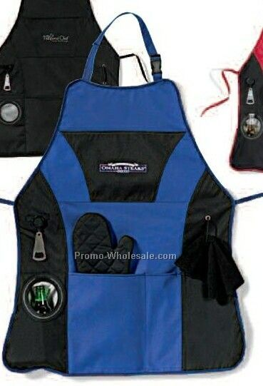 Royal Blue Grill Master Apron Kit