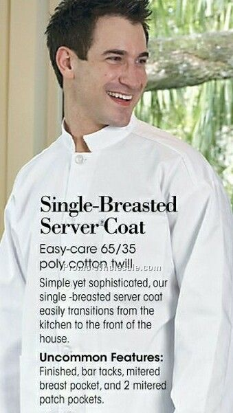 Single Breasted Server Black Coat (Xs-6xl)