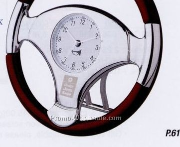 Steering Wheel Clock With White Face