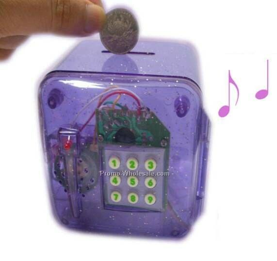 Translucent Bank With Password Panel And Music