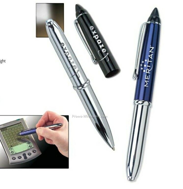 Triplet Lighted Pen With PDA Stylus