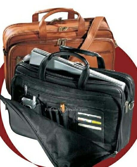Vaqueta Napa Leather Organizer Laptop Briefcase