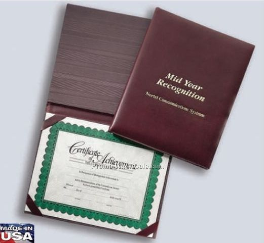 Vinyl Leatherette Certificate Presenter/ Diploma Holder