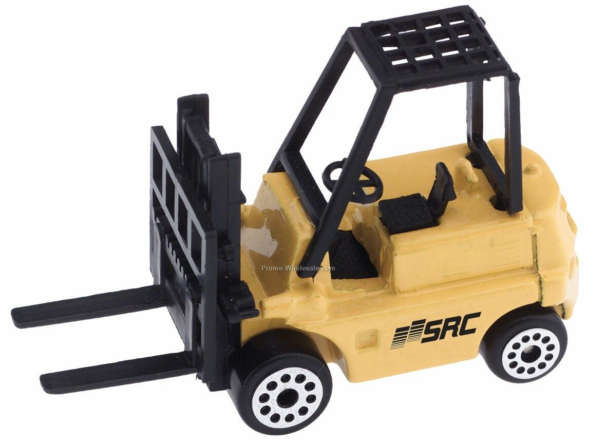 Yellow Forklift Die Cast Mini Vehicles