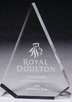 "1"" Thick Clear Acrylic Pyramid Award (Screen Printed)"