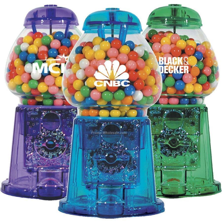"11-1/2"" Glass & Acrylic Gumball Machine"