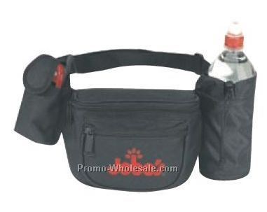 "13""x5-1/2""x2-1/2"" Fanny Pack W/ Water Bottle Holder & Cell Phone Pouch"