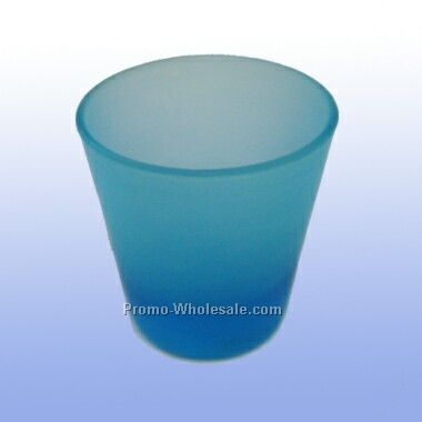 2 Oz Frosted Light Blue Shot Glass