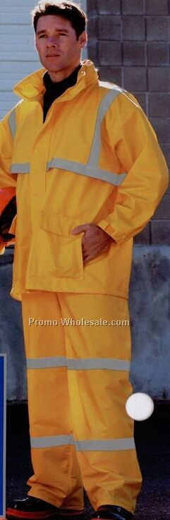 2 Piece Yellow Rainsuit With Jacket & Bib-overall (S-2xl) Blank