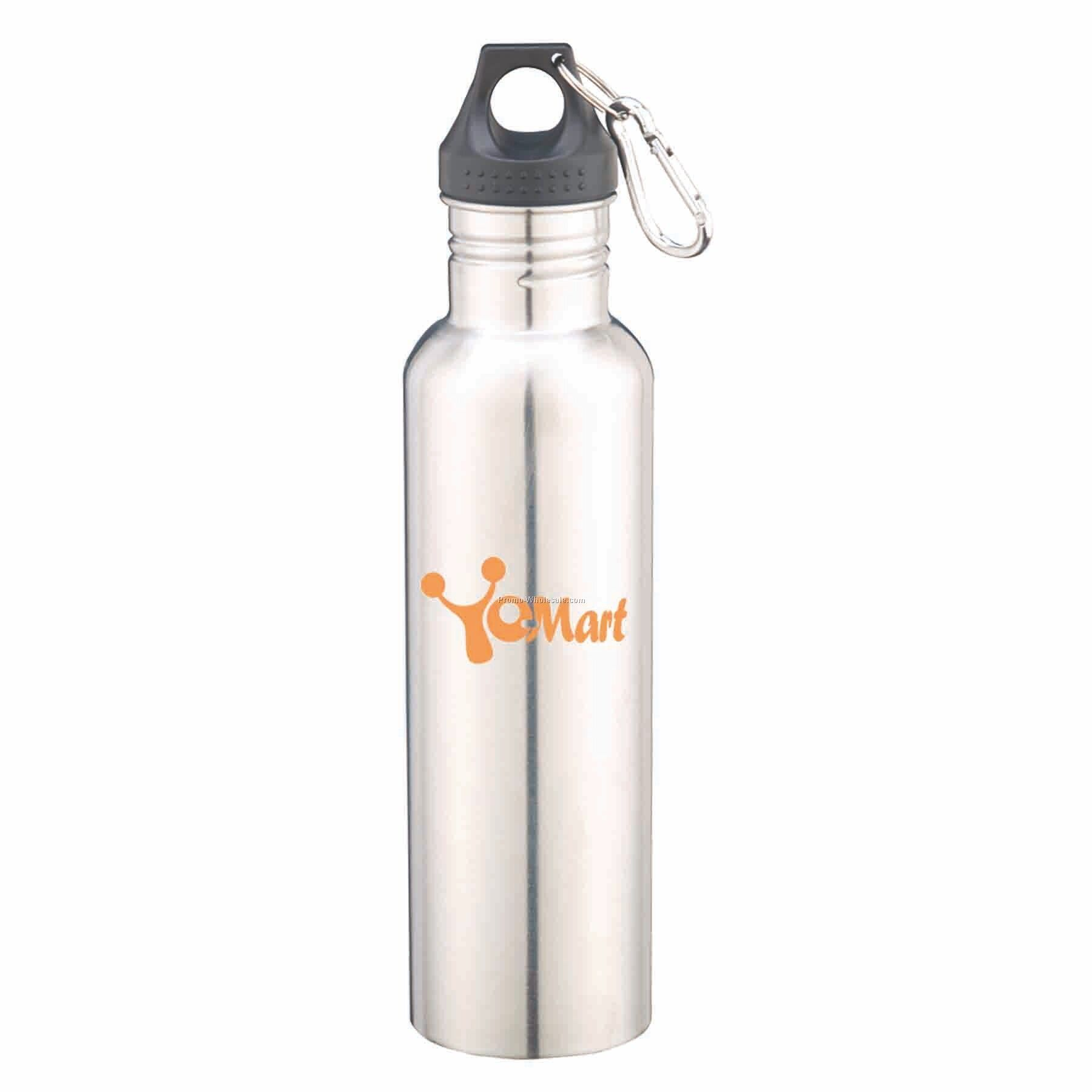 27 Oz Stainless Steel Bottle, Silver