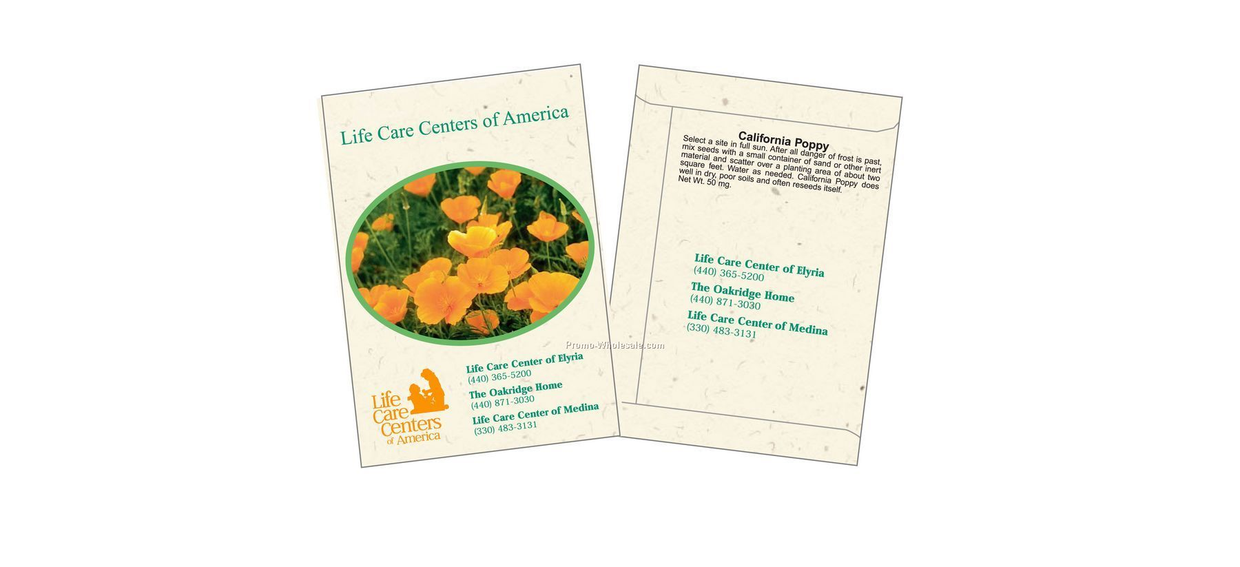 "3-1/4""x4-1/2"" California Poppy Flower Seed Packet (2 Color)"