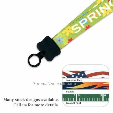 "3/4"" Standard Color Match Lanyard - O Ring"