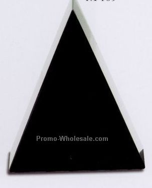 "4""x5""x1-5/8"" Free Standing Triangle Award - Small"