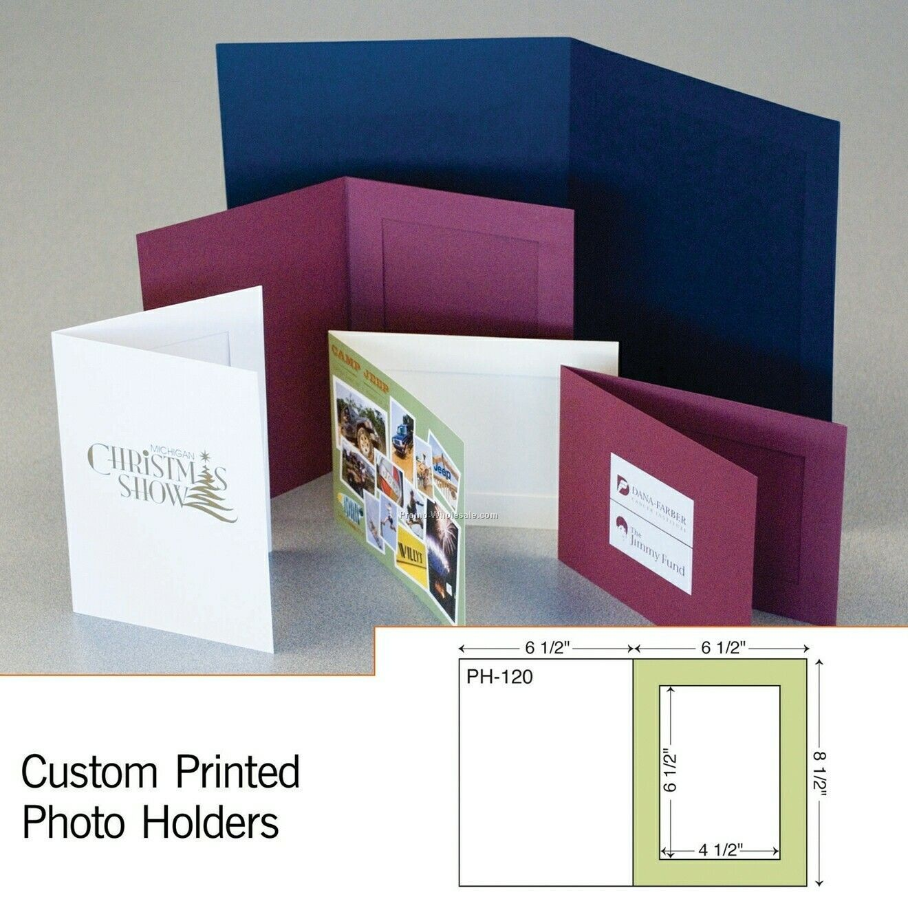 "5-1/2""x7-1/2"" Photo Holder W/ Die Cut Slits (Foil Stamp/Emboss)"