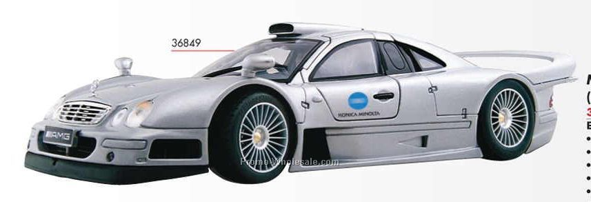 "9"" Silver Mercedes-clk-gtr Die Cast Replica Vehicle"