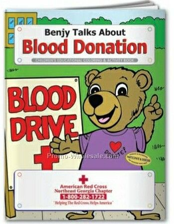 Blood Donation Coloring Book