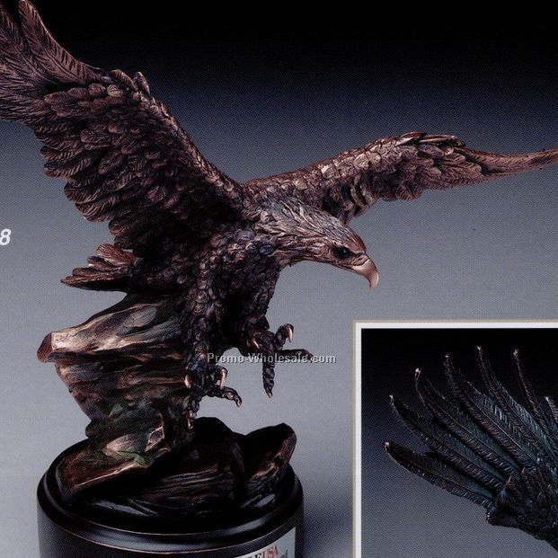 Bronze Plated Soaring Eagle Award 15""