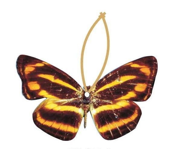 Brown & Yellow Butterfly Executive Line Ornament W/ Mirror Back (8 Sq. In.)