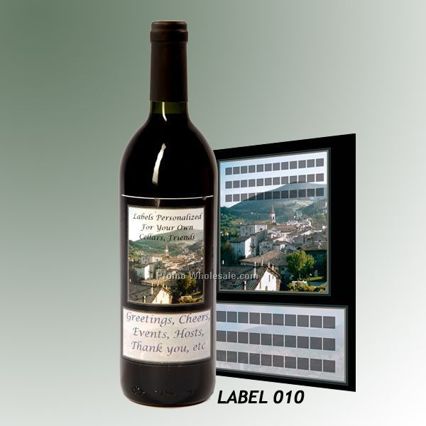 Custom Wine Gift With Personalized Stock Label - Village Or Canal