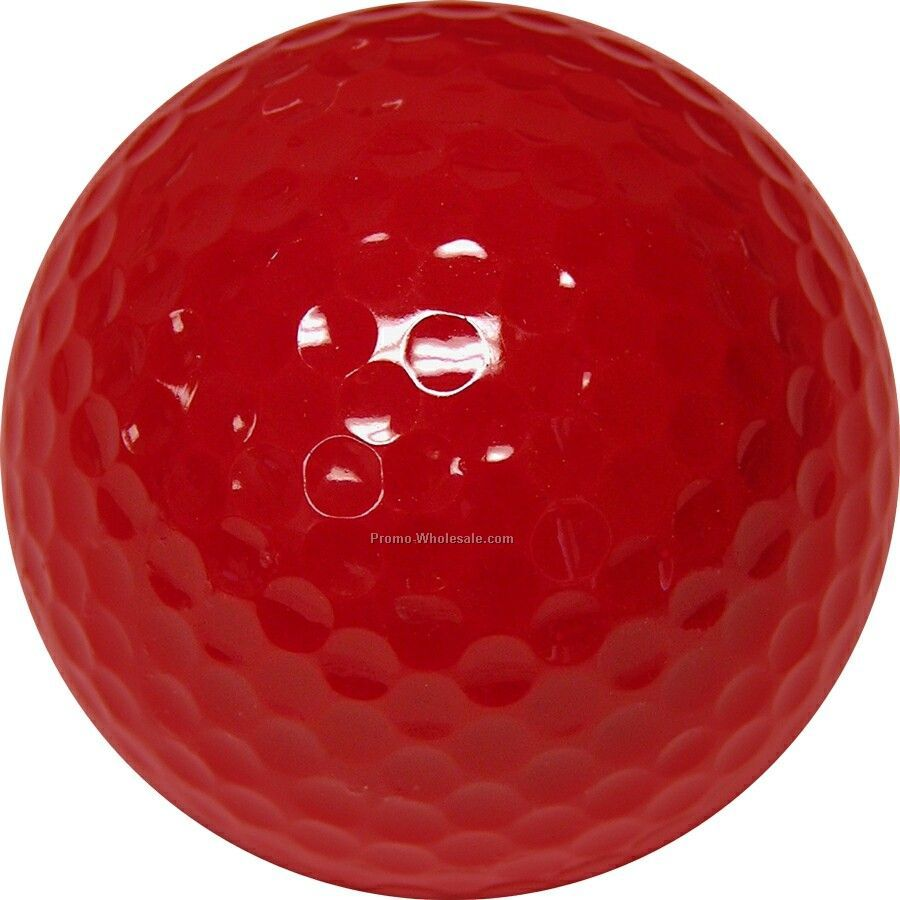 Golf Balls - Dark Red - Custom Printed - 2 Color - Clear 3 Ball Sleeves