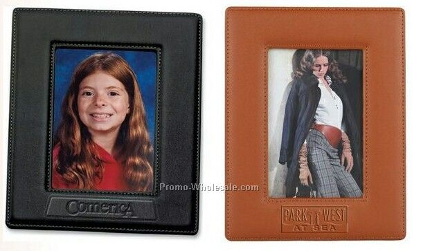 "Leather Toscana Easel Photo Frame - 5""x7"" Photo"