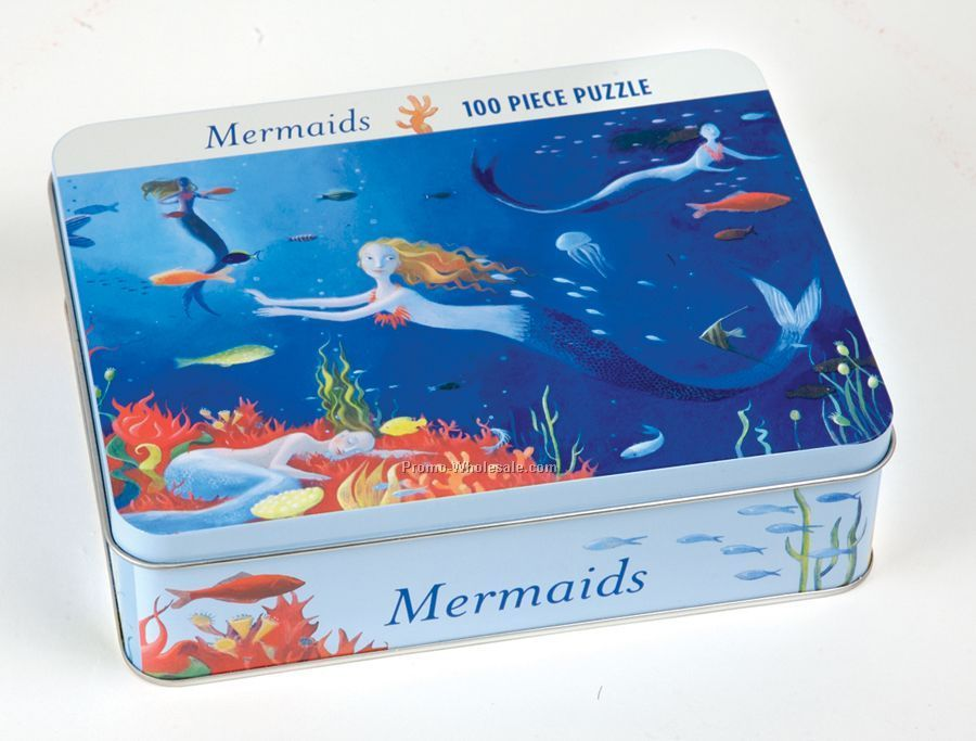 Mermaids Collectible Tin Puzzle