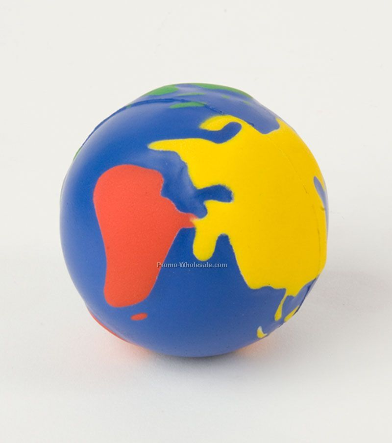 Multi Color Globe Squeeze Toy