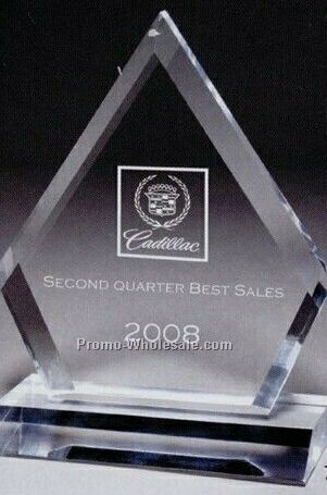 Multi Faceted Acrylic Clear Ruby Award (Screen Printed)