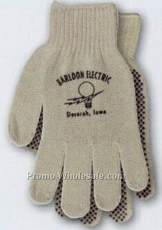 Natural Beige Men's Dotted String Knit Glove