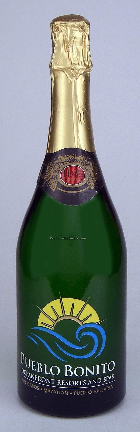 Non Alcoholic Sparkling Grape Juice, 750ml, 1 Deep Hand-etch, 4 Paint Fills