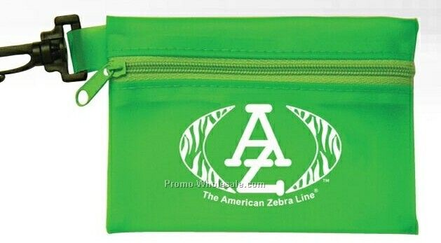 Nylon Zipper Pouch W/Clip