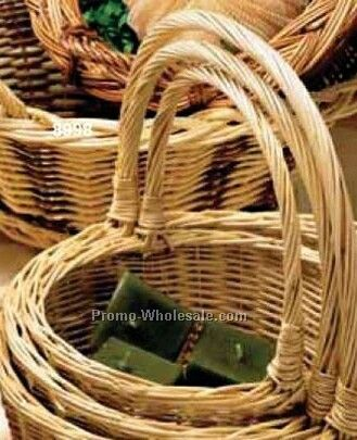Oval White Willow Fruit Over Handle - Set Of 3 (Full Carton)