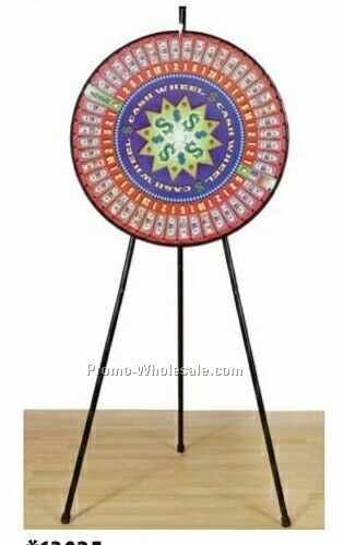 Pre-designed Cash Floor Stand Prize Wheel